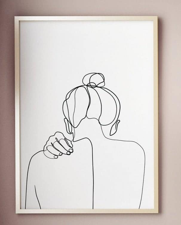 Woman's back - simple minimalist sketch