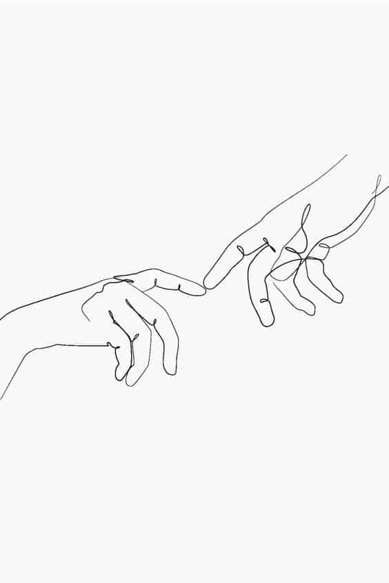 Minimalist-Line-Drawing-with-Hands